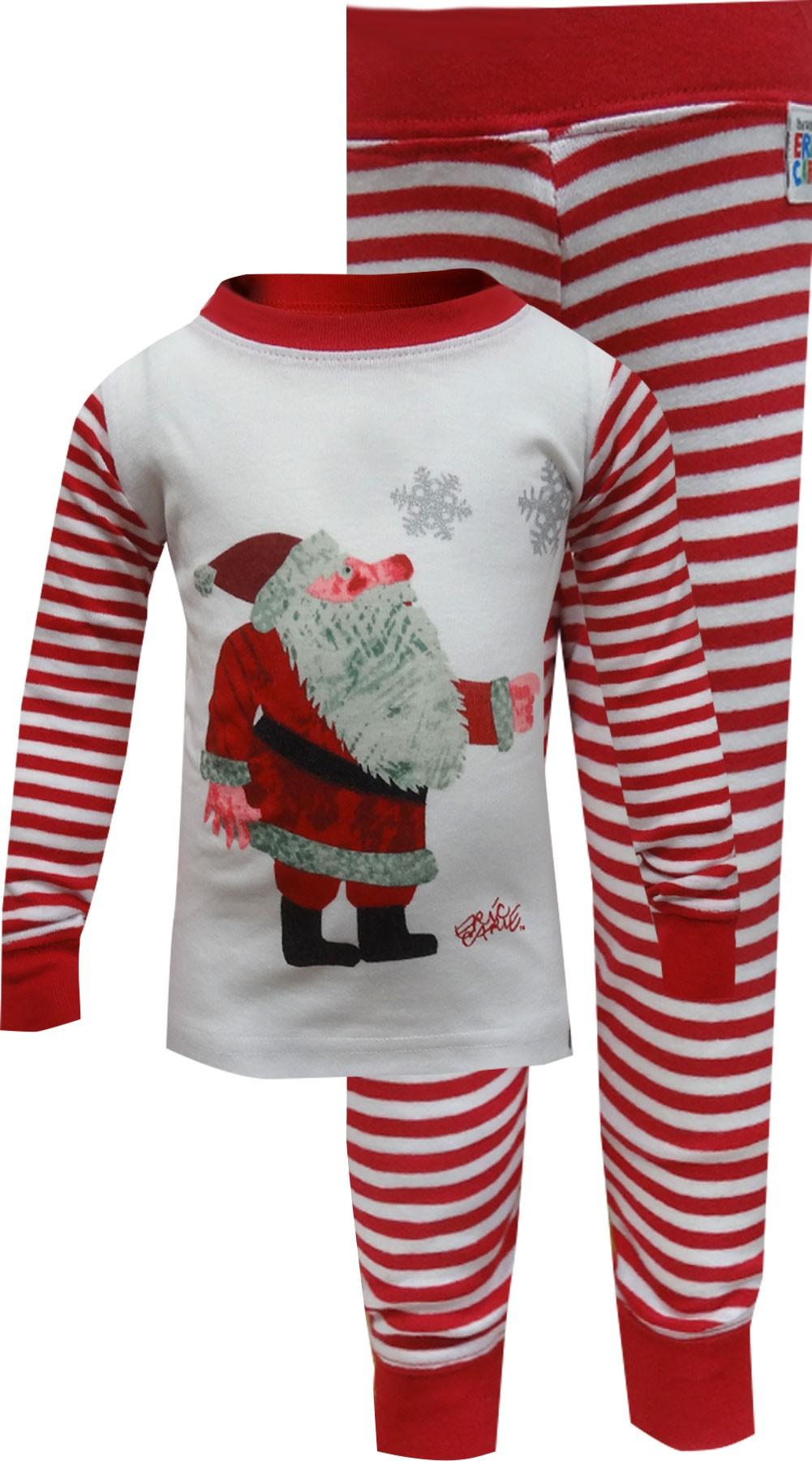 Image of Eric Carle Santa Infant Christmas Pajama for boys
