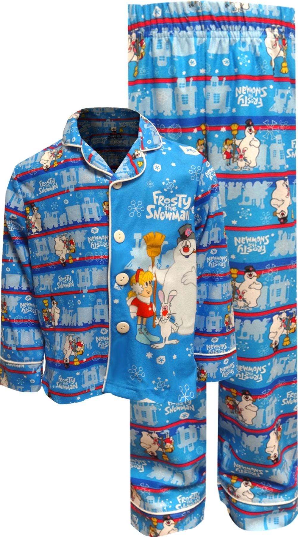 Image of Frosty The Snowman All Through the Village Traditional Pajama for boys