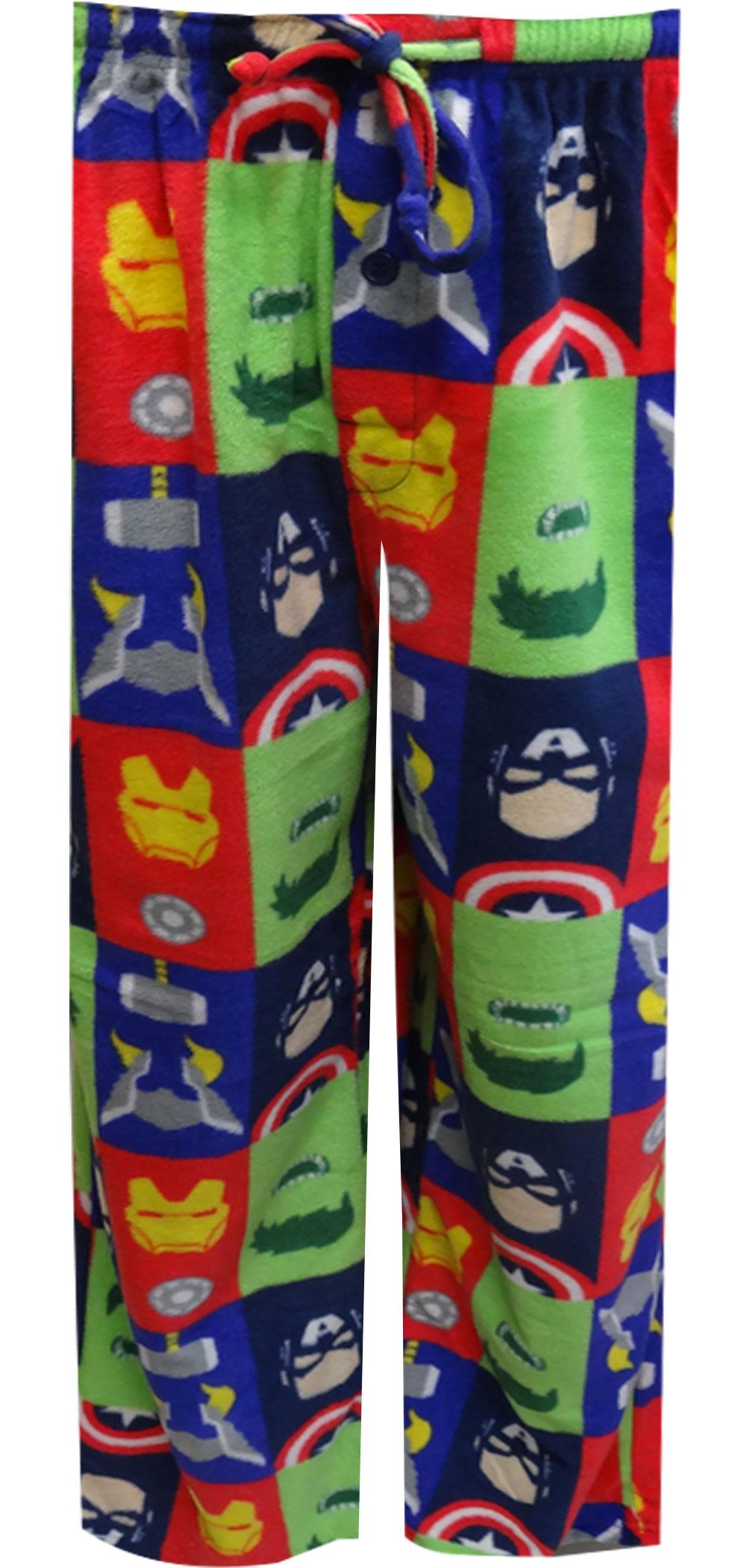 Marvel Comics Avengers Assemble Fleece Lounge Pants for men