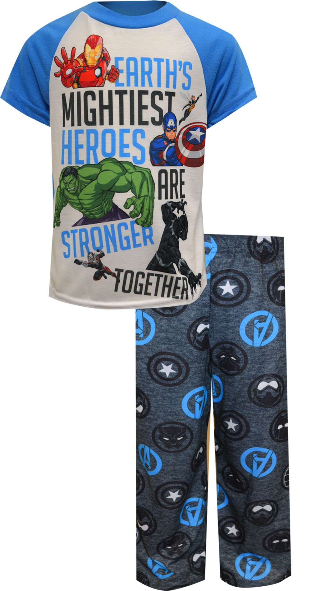 Image of Marvel Comics Heroes Are Stronger Together Pajamas for boys