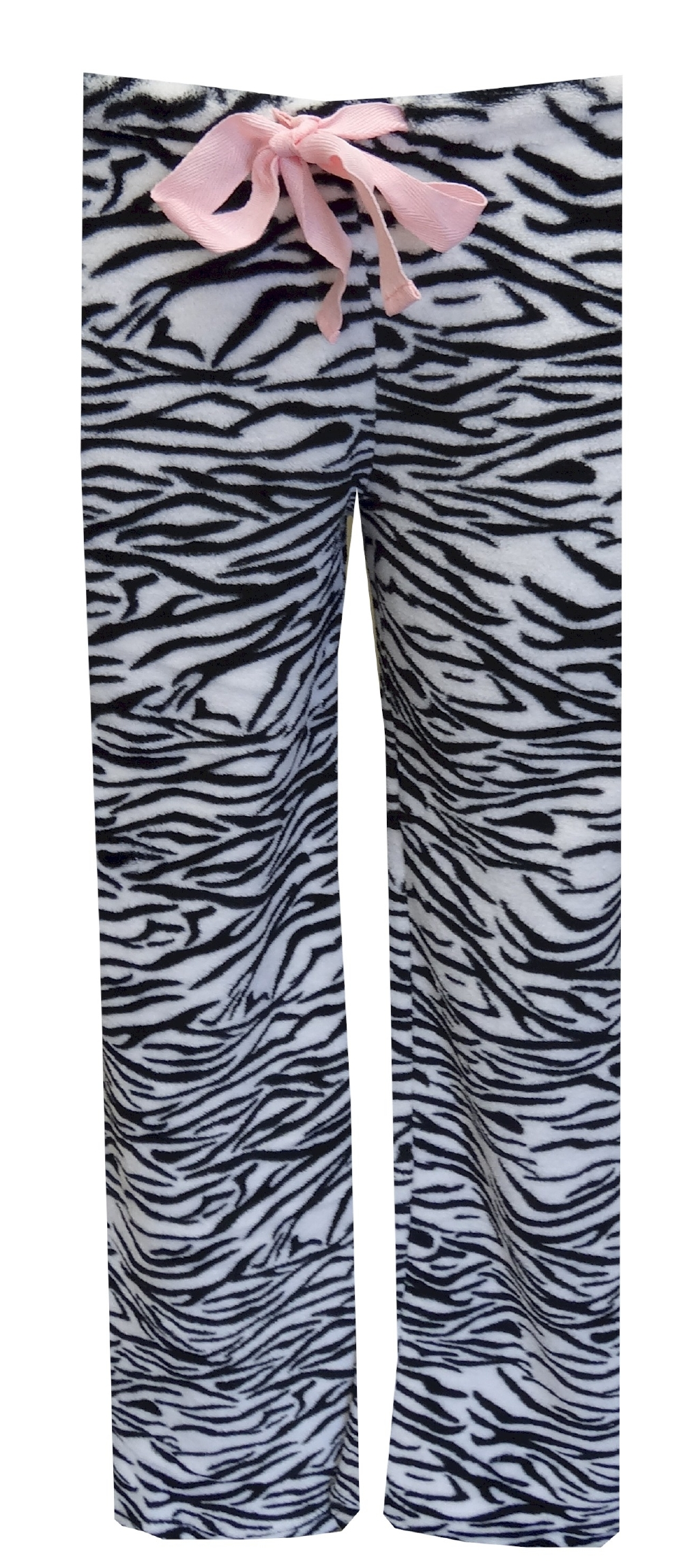 Image of Black And White Zebra Plush Lounge Pant for women