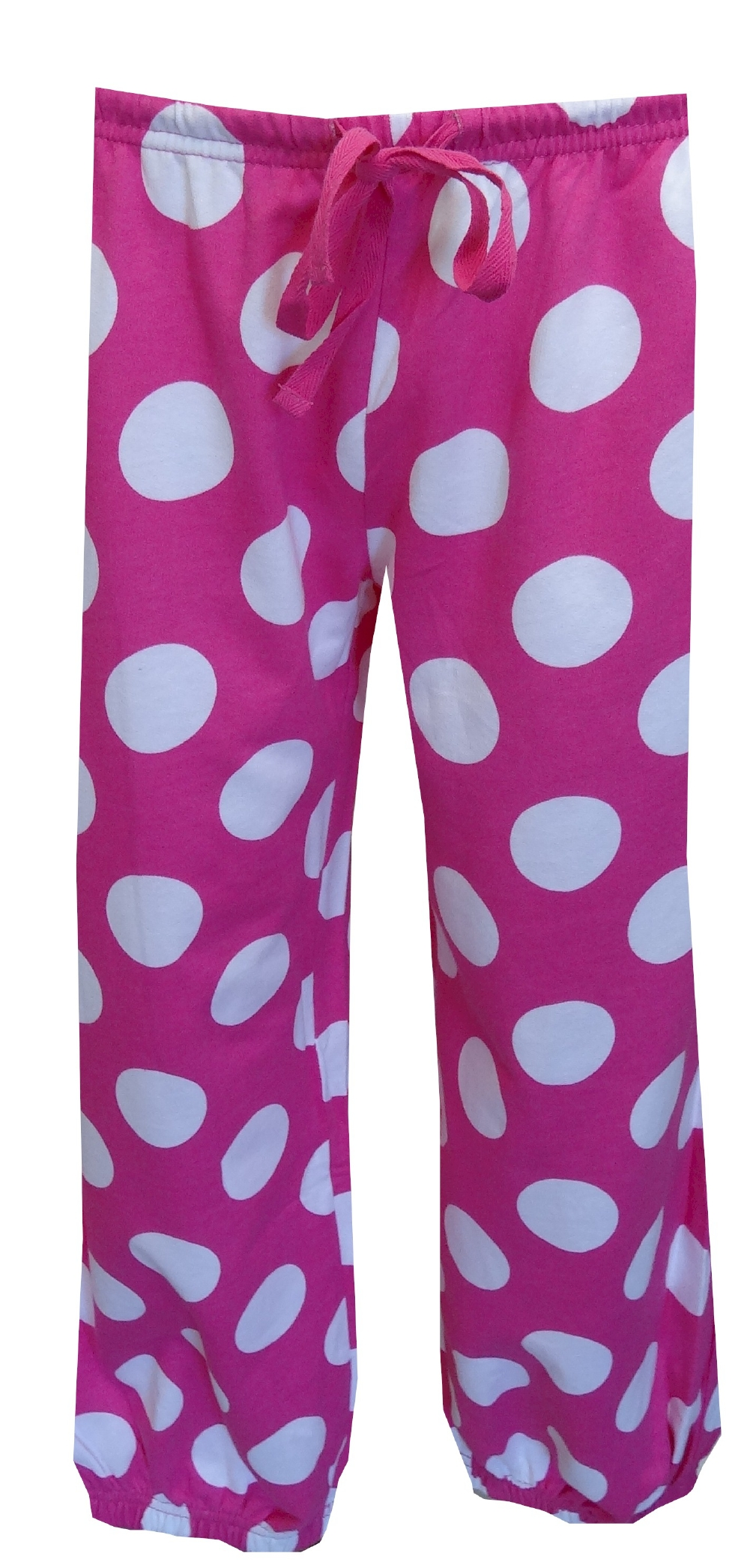 Webundiescom Pink And White Polka Dot Capri Sweat Pants