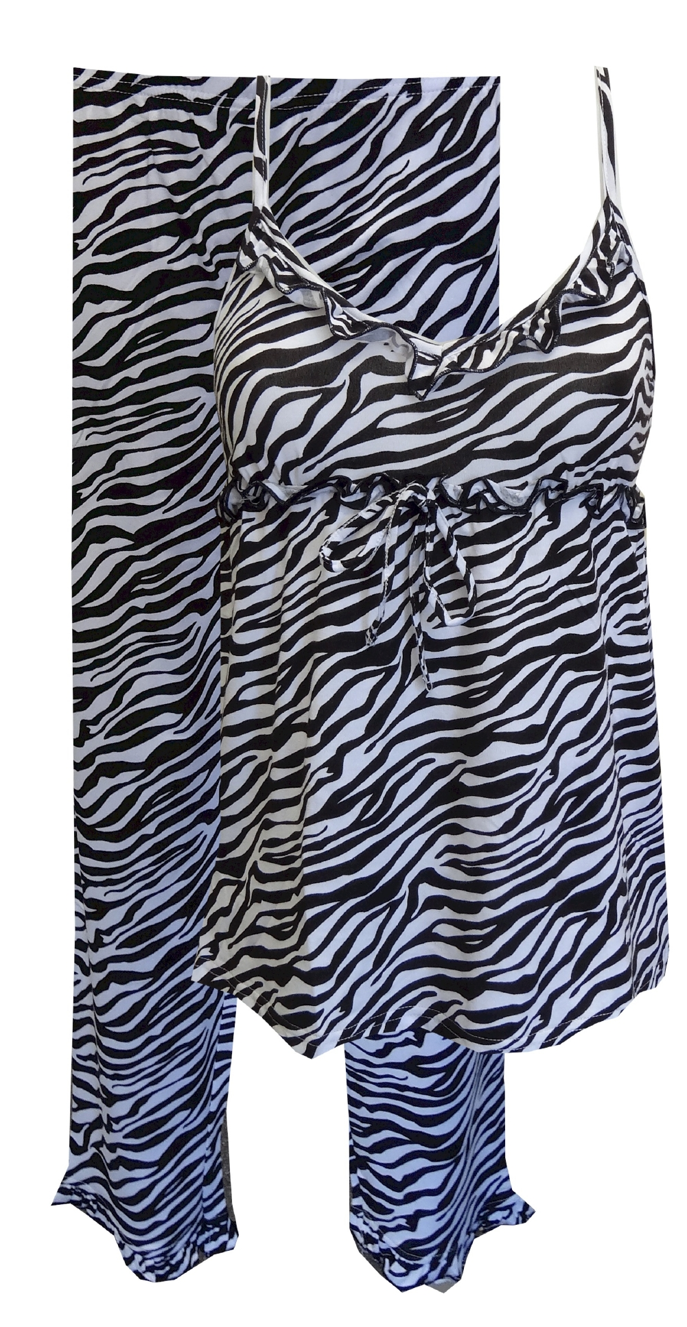 Black And White Zebra Babydoll Pajama for women