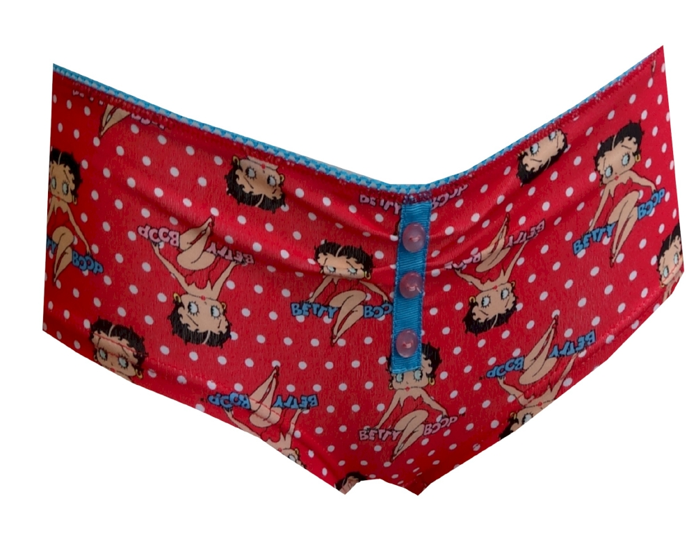 Image of Betty Boop Red Polka-Dot Boy Short Panty for women
