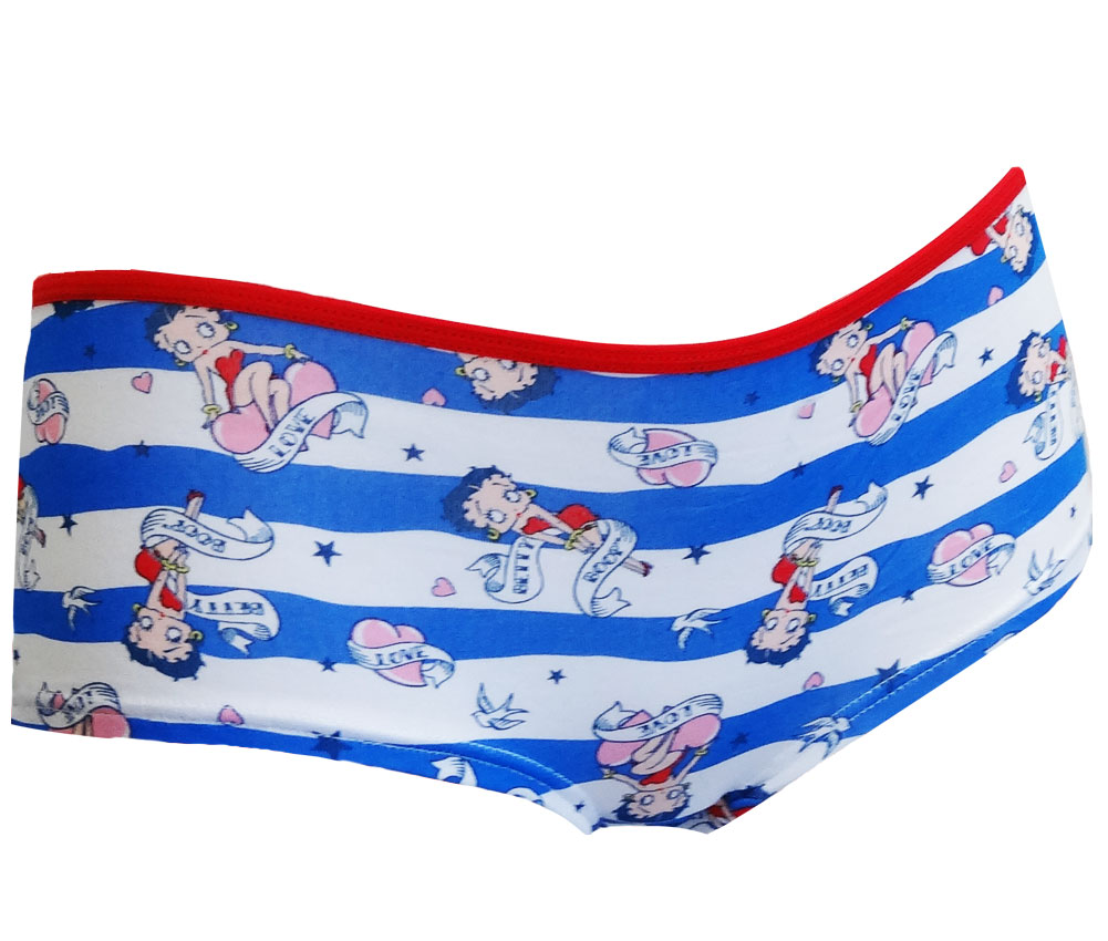 Image of Betty Boop Love and Peace Low Rise Boy Leg Panty for women