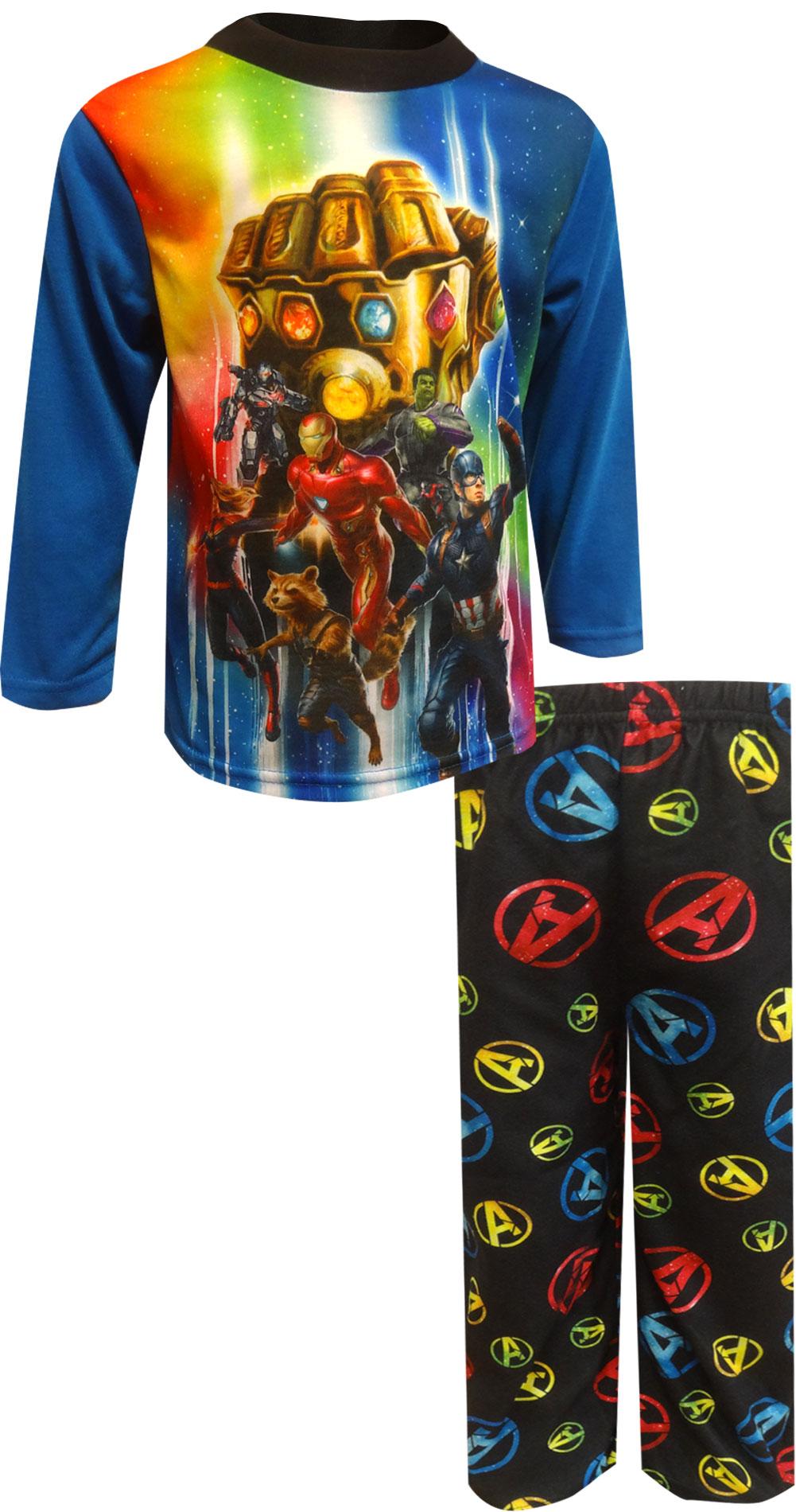 Image of Marvel Comics Avengers Endgame Infinity Gauntlet Pajamas for boys