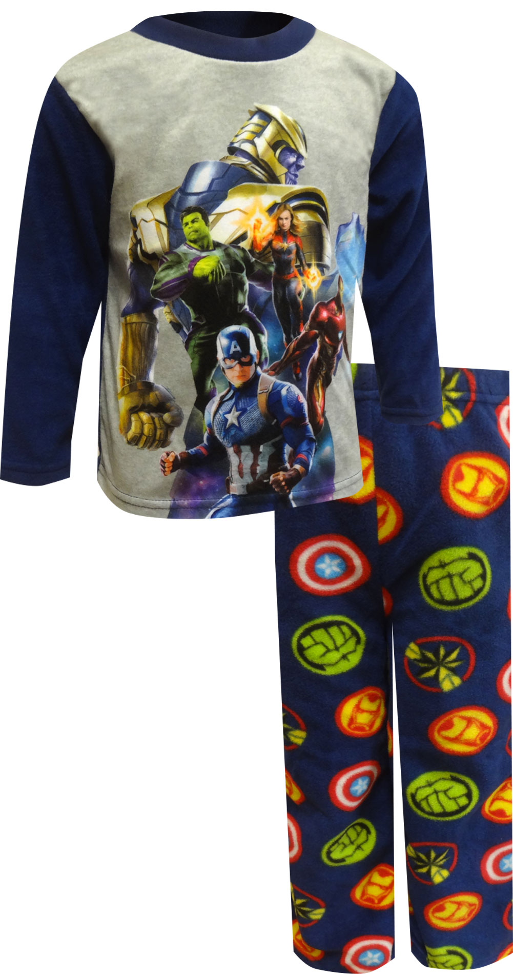 Image of Marvel Comics Thanos VS The Avengers Fleece Pajamas for boys