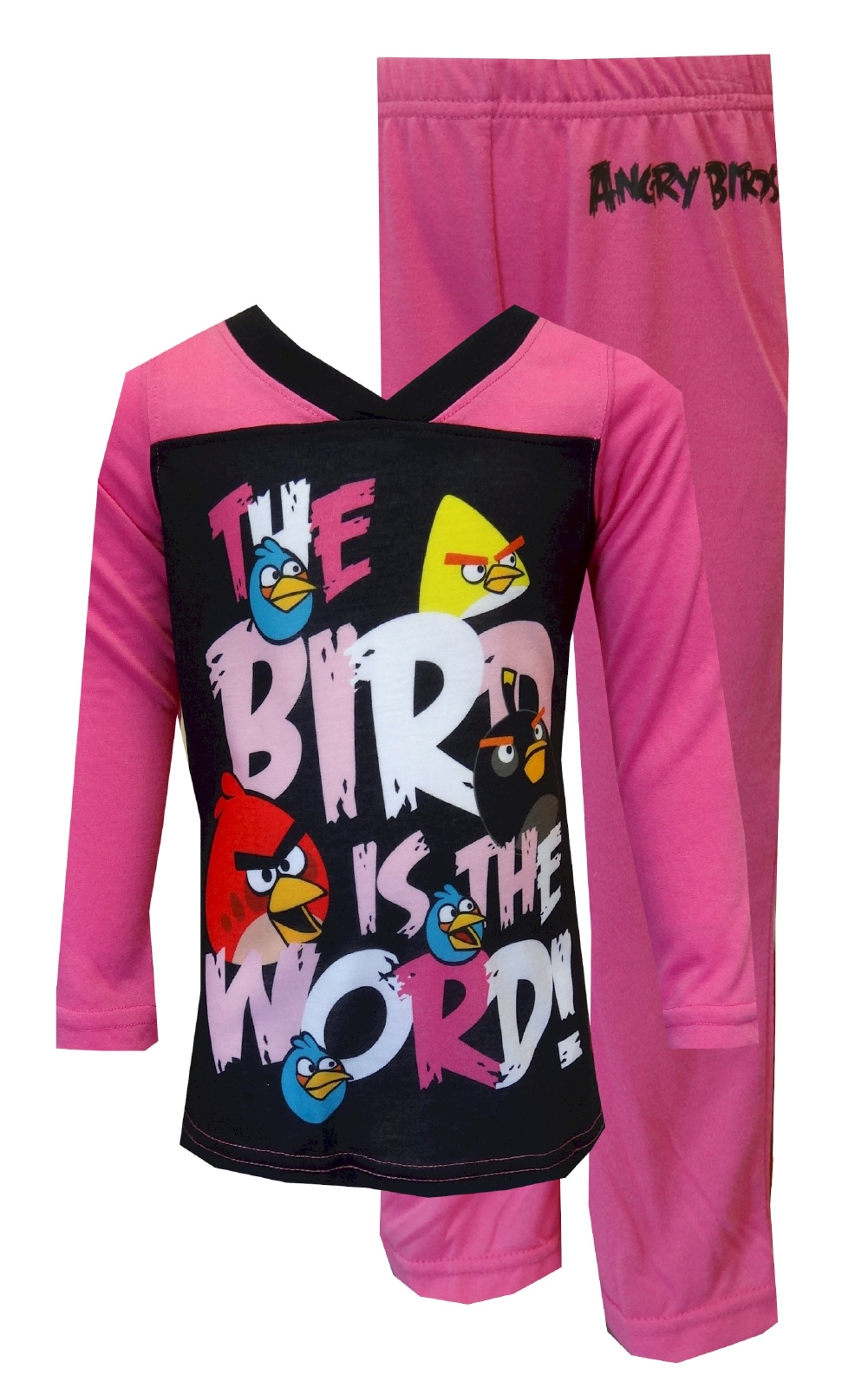 Image of Angry Birds The Bird Is the Word Girls' Pajamas for girls