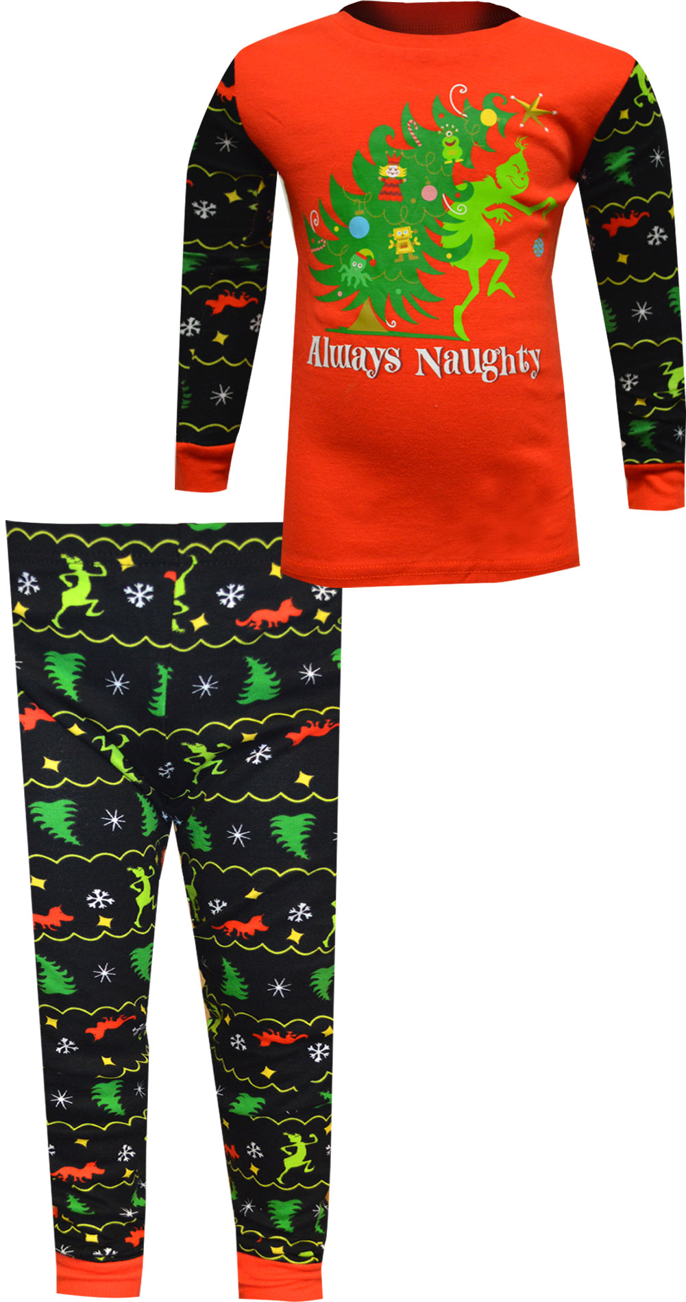 Image of Dr. Seuss The Grinch Always Naughty Boys Pajamas for boys