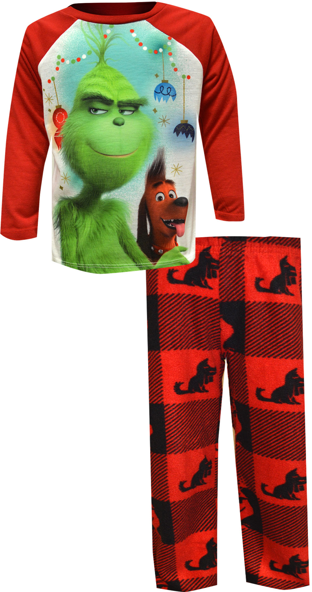 Image of Dr. Seuss The Grinch and Max Pajamas for boys