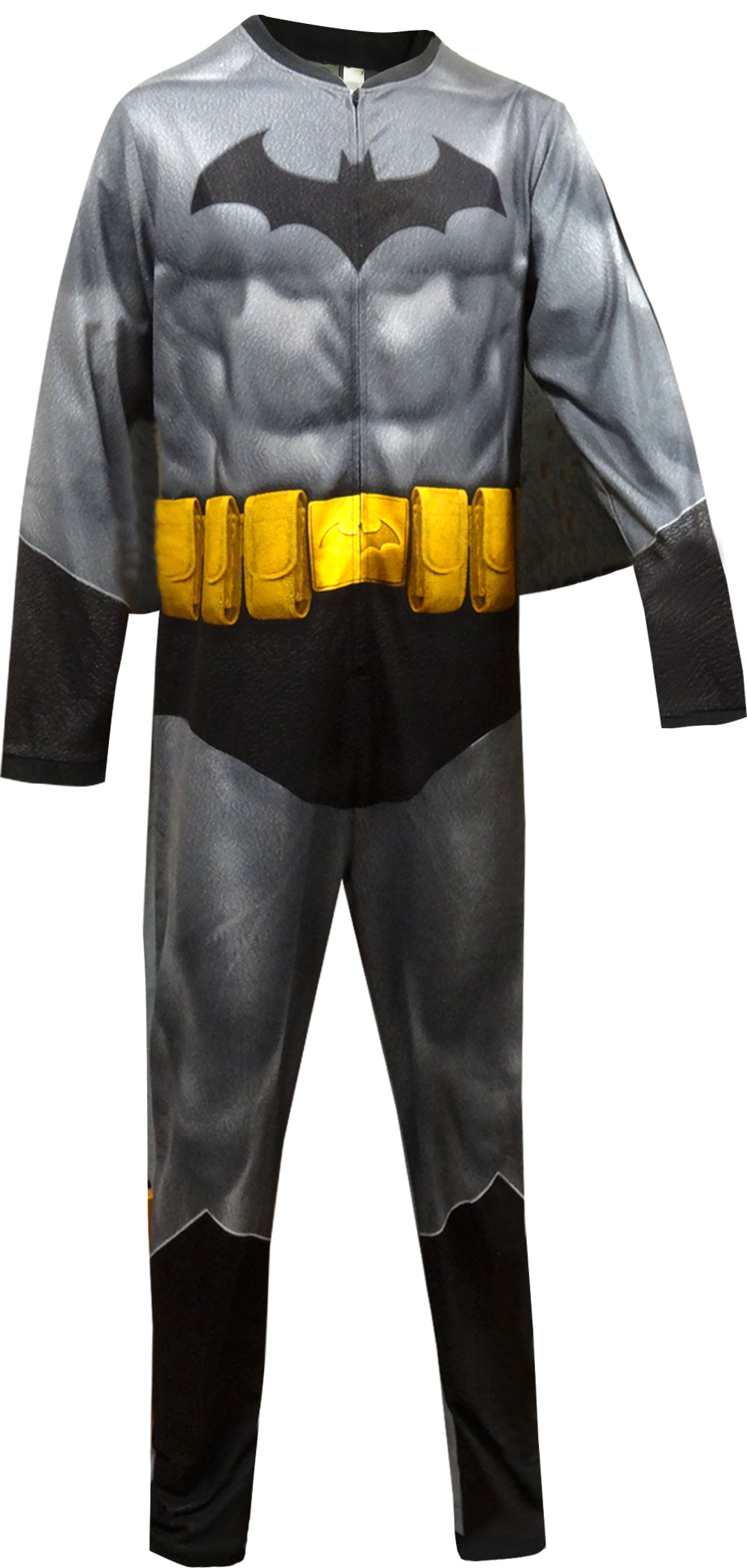 Image of Batman Fleece One Piece Union Suit Pajama with Cape for men