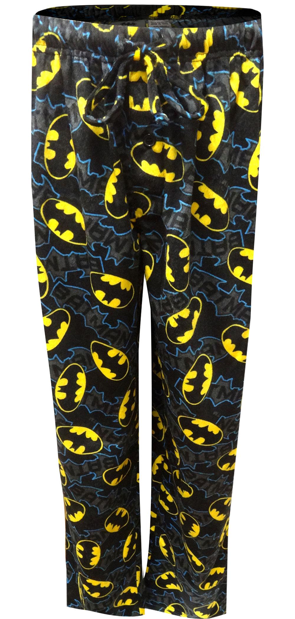 Image of Batman Logo Minky Soft Cozy Lounge Pants for men