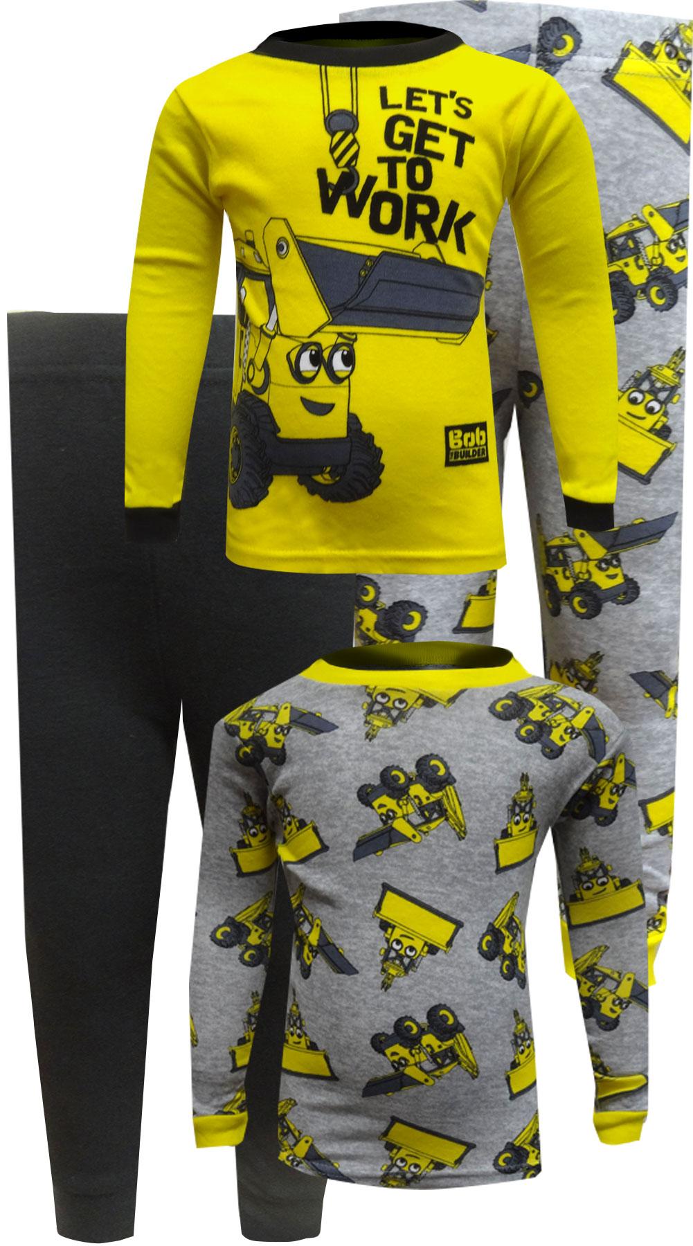 Image of Bob The Builder 4 Piece Toddler Pajamas for boys