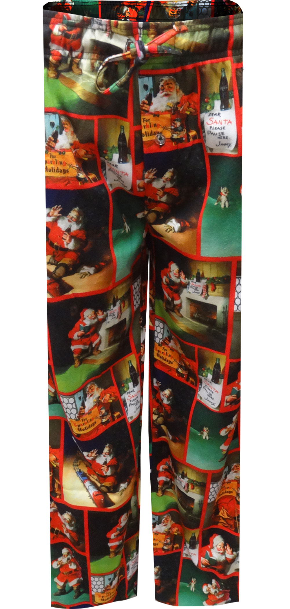 Image of Coca Cola Dear Santa Classic Christmas Flannel Lounge Pants for Men