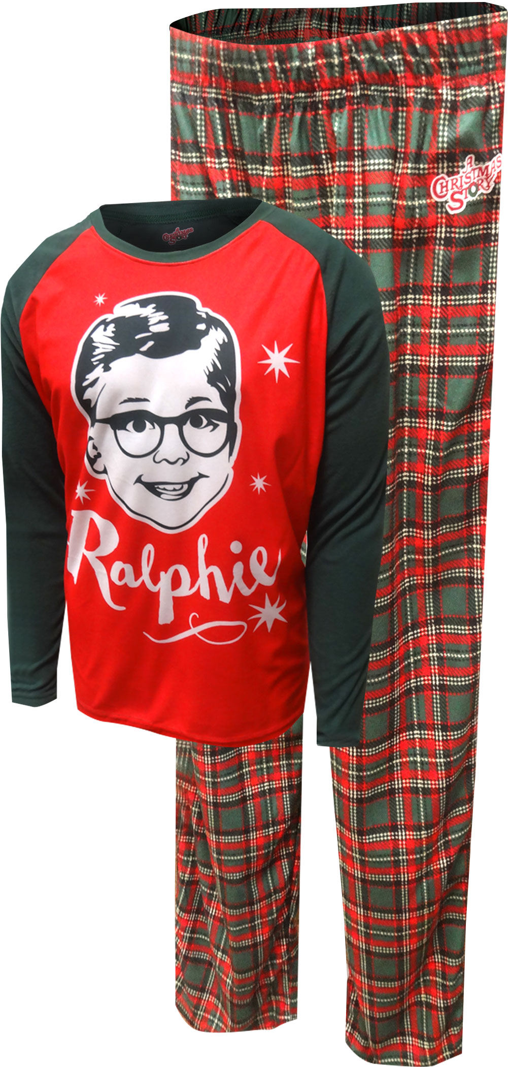 Image of Christmas Story Grinning Ralphie Men's Pajamas for men