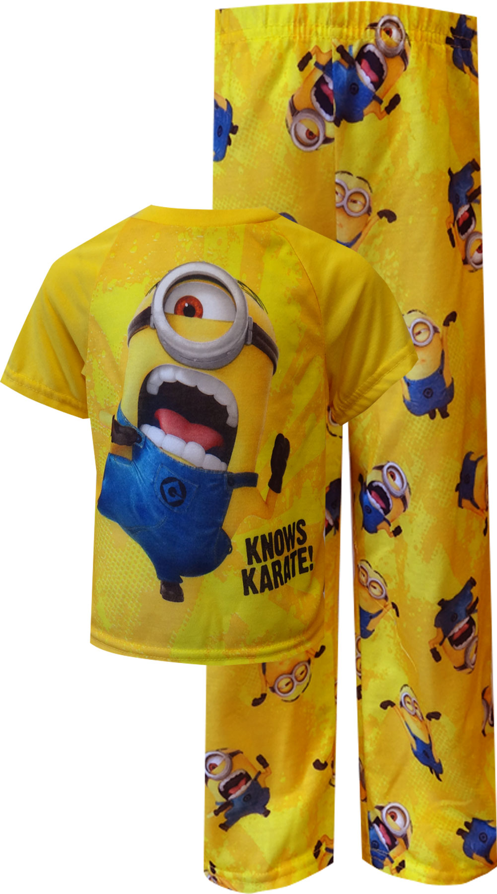 Image of Despicable Me 2 Minion Knows Karate Toddler Pajamas for boys