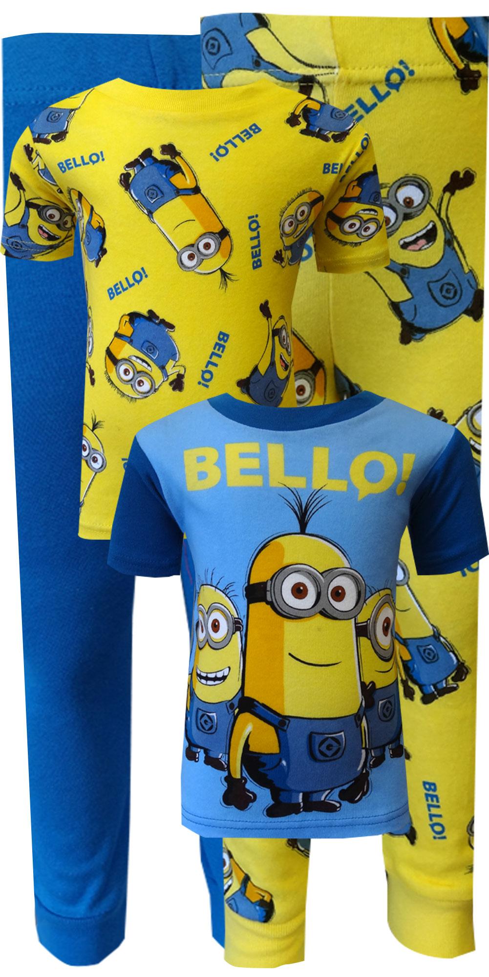 Image of Despicable Me 2 Minion Bello! 4 Piece Cotton Pajamas for boys