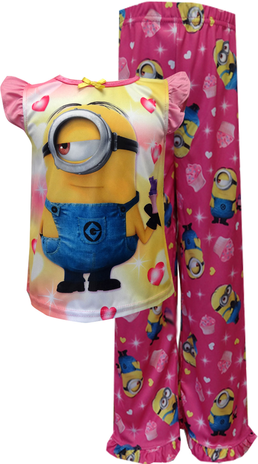 Image of Despicable Me 2 Minions Cupcake Toddler Pajamas for girls