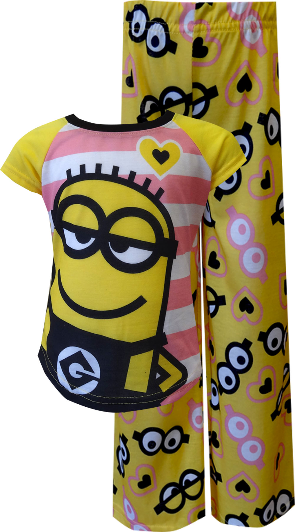Image of Despicable Me 2 Minions Striped Pajama for girls
