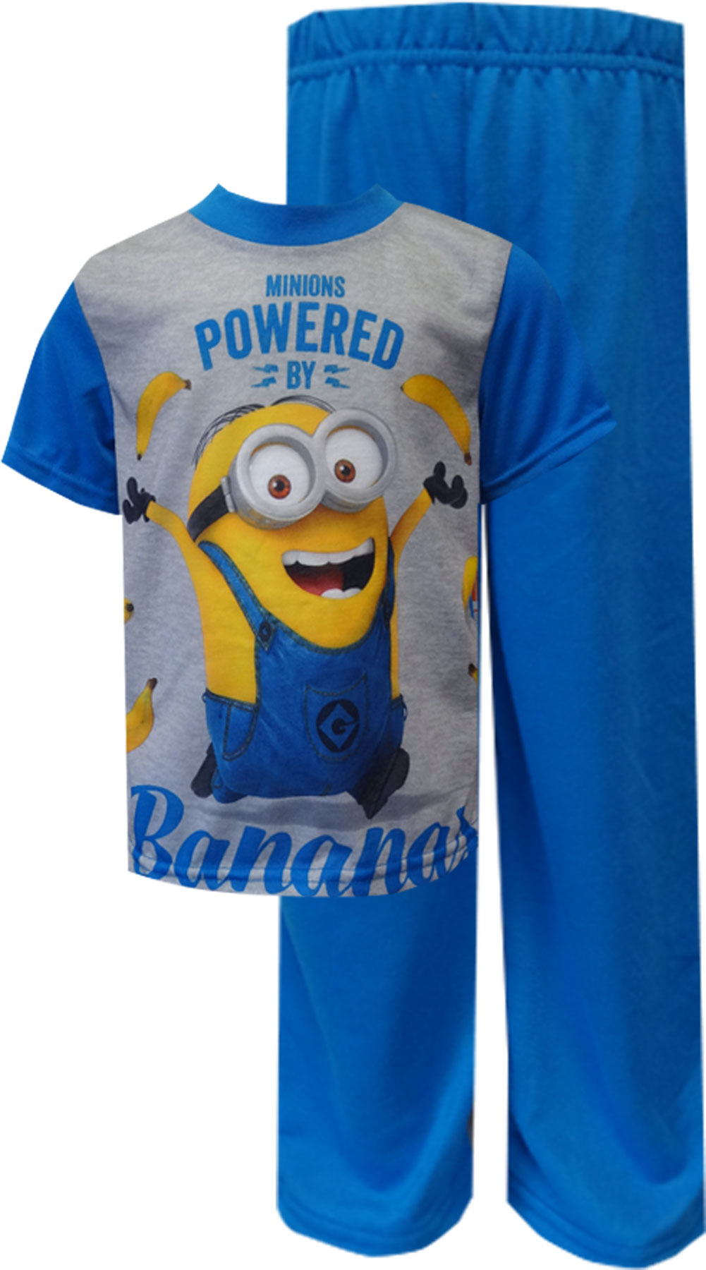 Image of Despicable Me 2 Minions Powered By Bananas Pajamas for boys