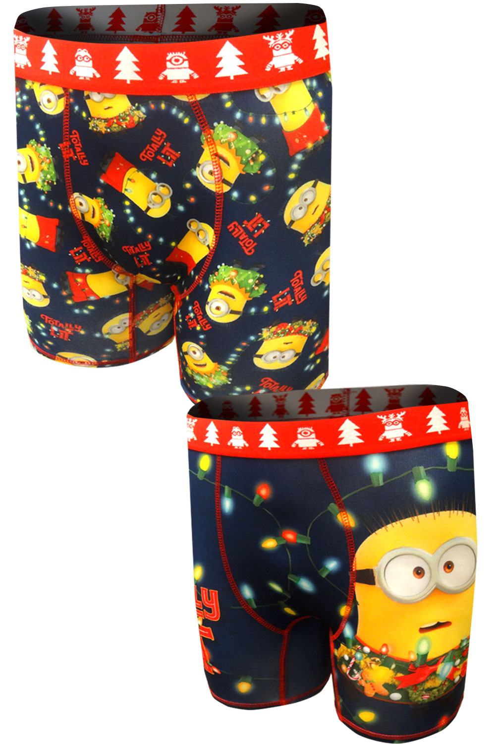 Image of Despicable Me Minions Totally Lit Performance Boxer Brief 2 Pack for men