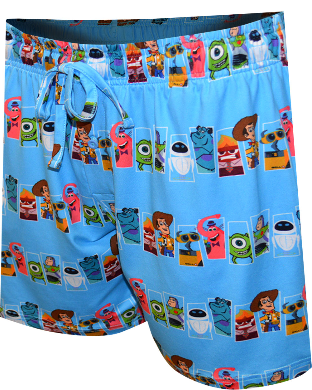 Image of Disney Pixar Characters Collage Lounge Shorts for men