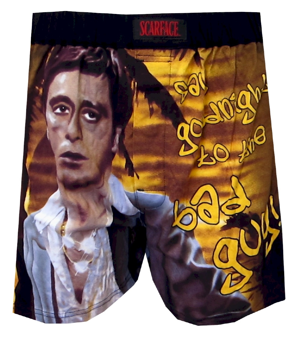 Webundiescom Scarface Say Goodnight Bad Guy Boxers