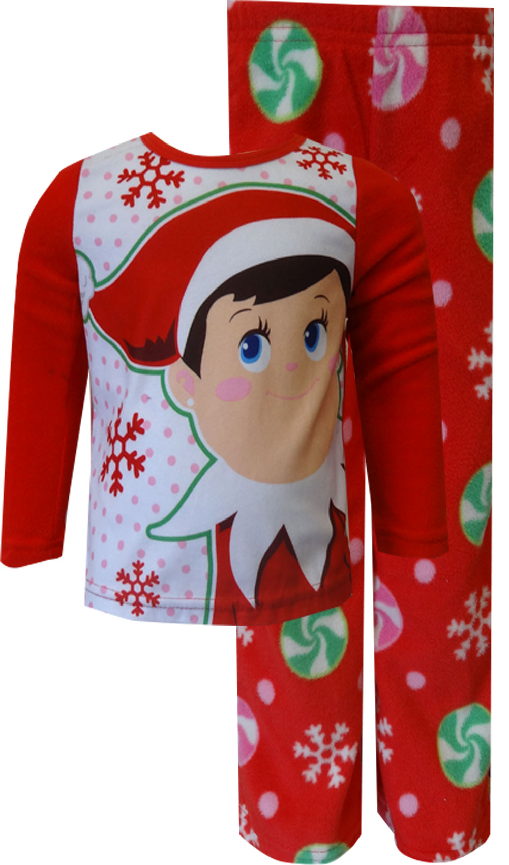 Elf on the Shelf Red Fleece Pajamas for girls