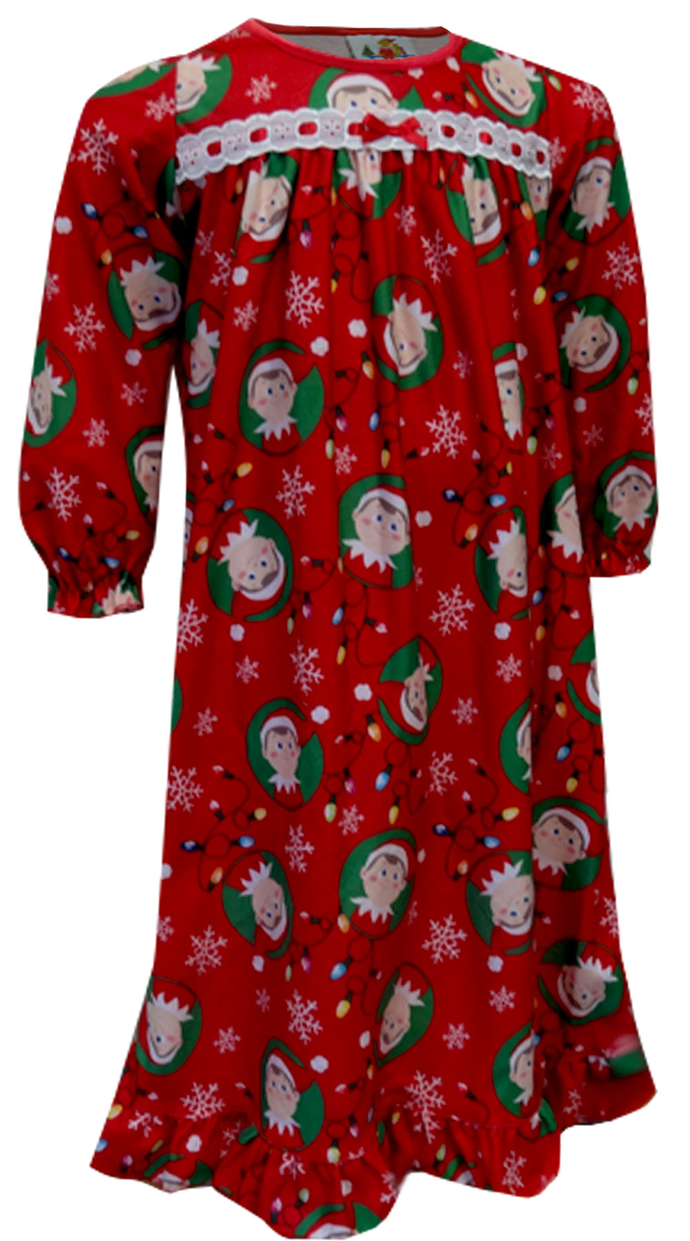 Image of Christmas is Coming Elf on the Shelf Red Nightgown for girls