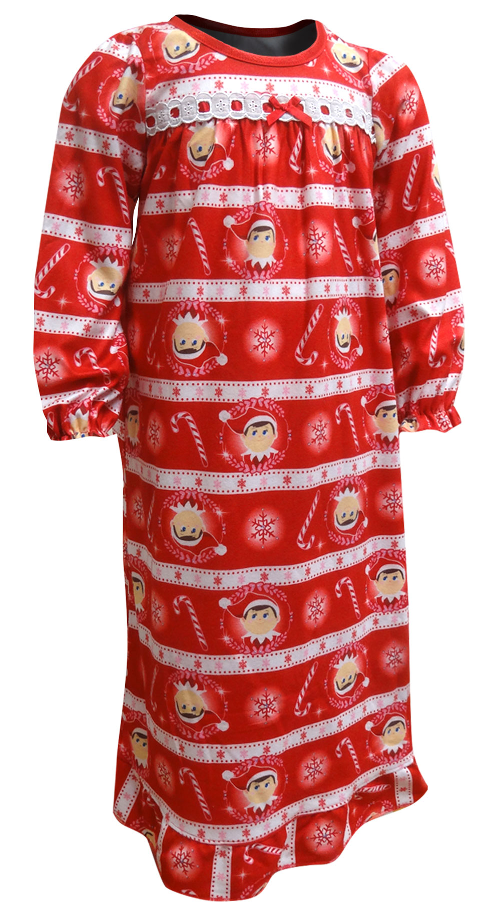 Image of Elf on the Shelf Traditional Flannel Nightgown for girls