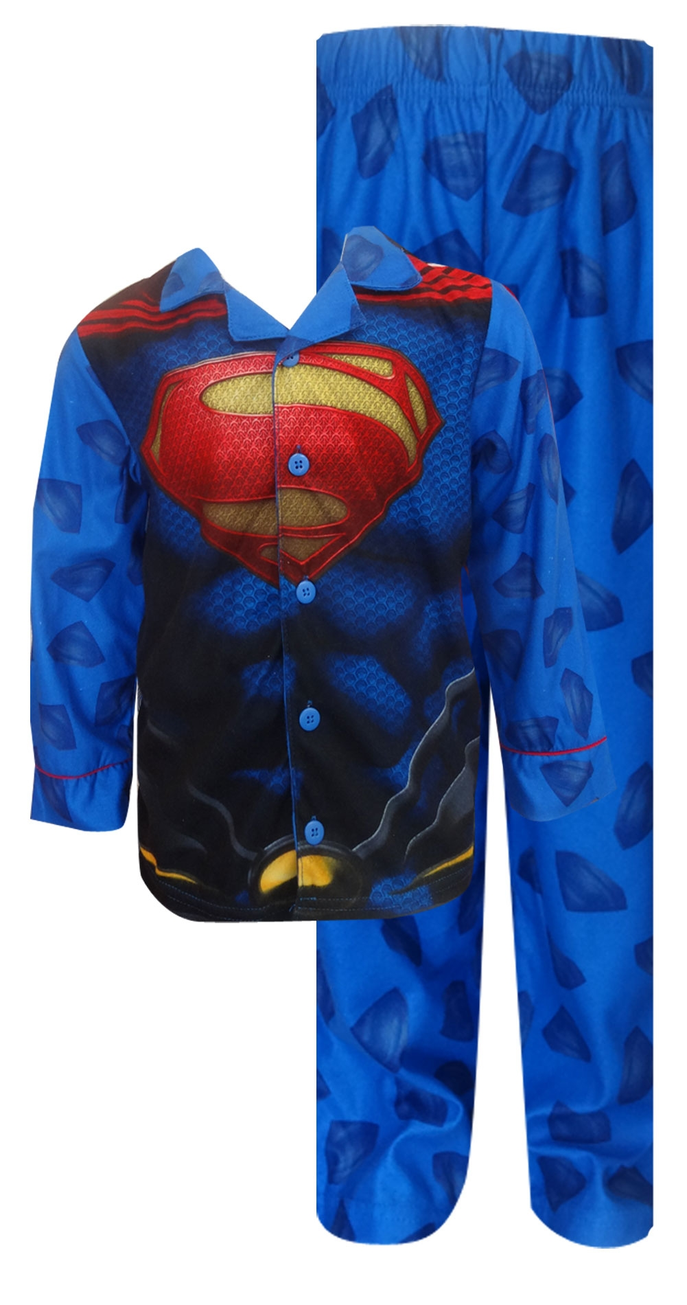 Image of DC Comics Superman Strong as Steel Button Front Pajama for boys
