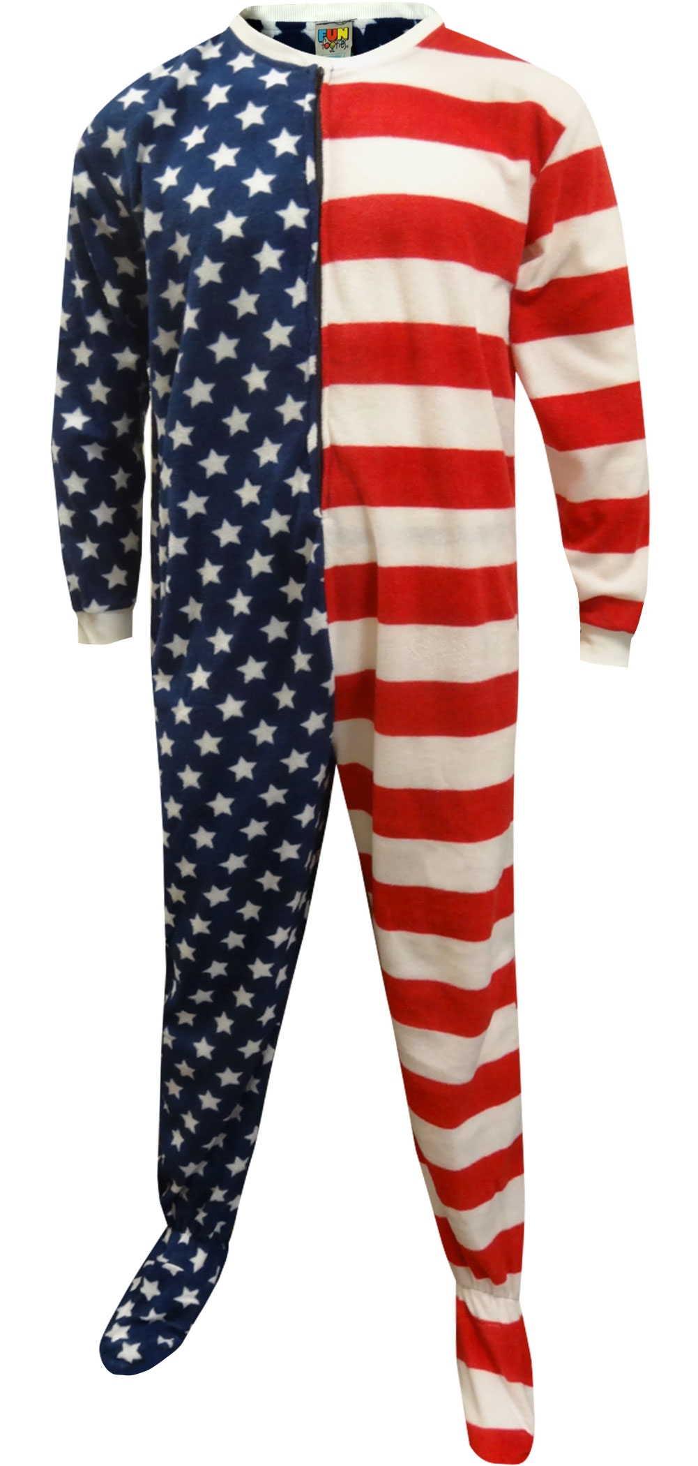 Image of American Flag Footie Pajama for men