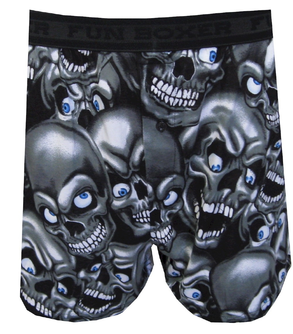 Creepy Skulls Black Boxers for men