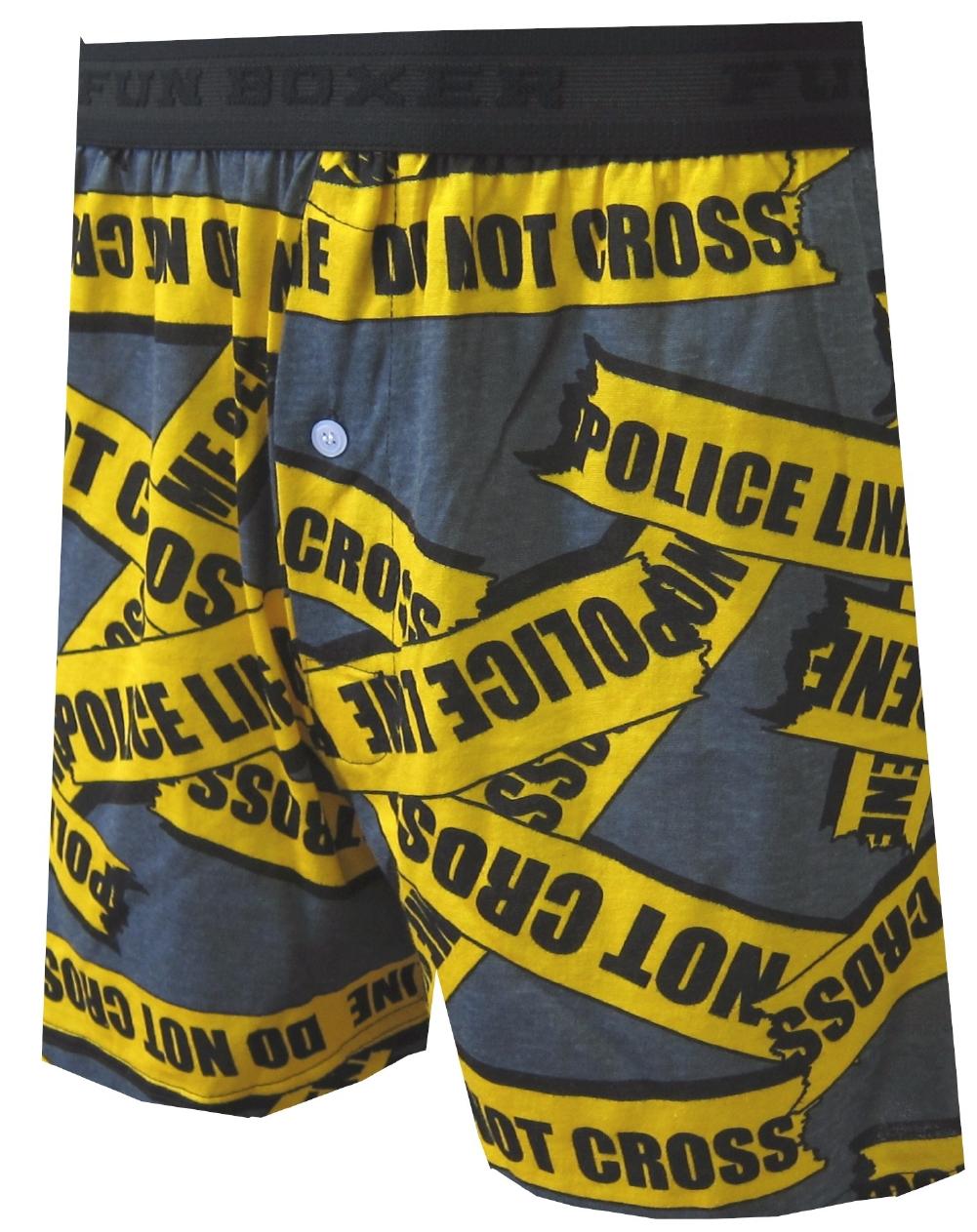 Police Line Do Not Cross Boxers for men