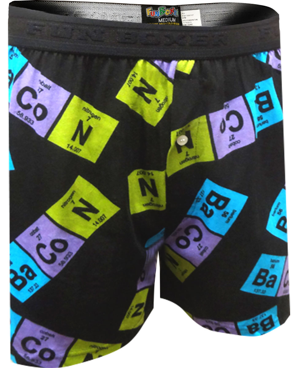 Periodic Table Bacon Boxer Shorts for men