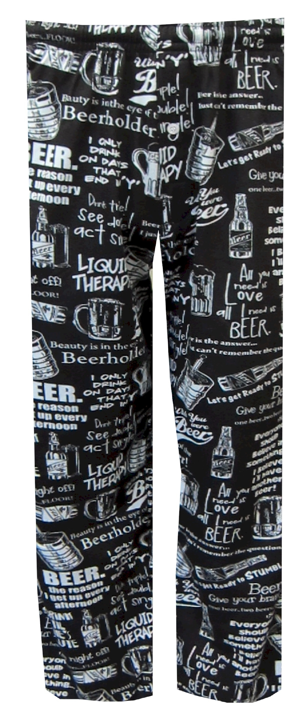 Beer Phrases Black Lounge Pants for men