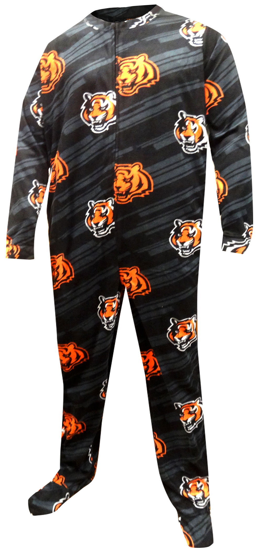 Image of Cincinnati Bengals One Piece Footie Pajama for men