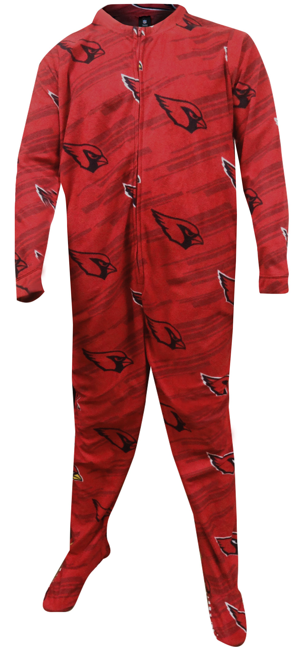 Image of Arizona Cardinals One Piece Footie Pajama for men