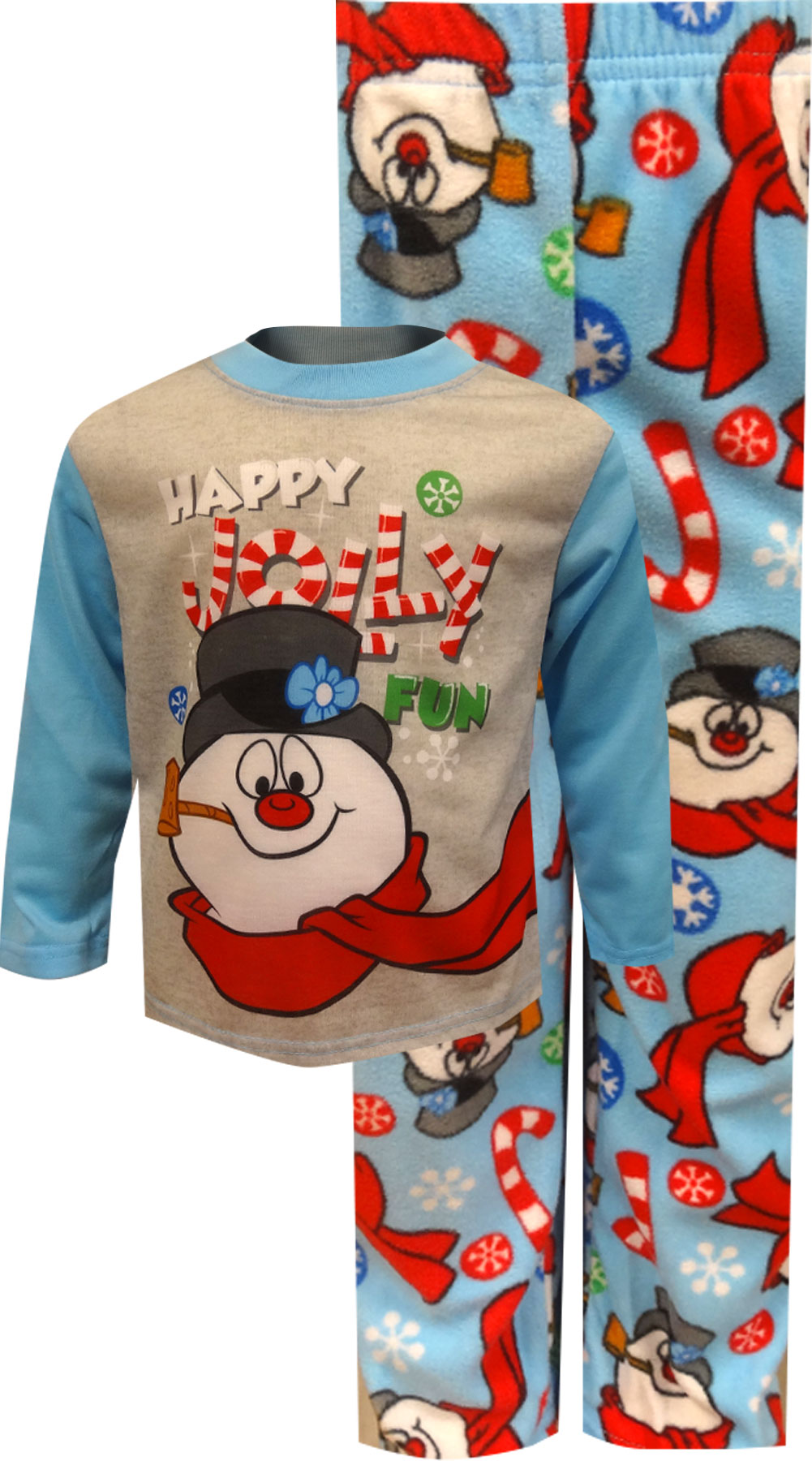 Image of Happy Jolly Fun Frosty The Snowman Pajamas for Toddlers