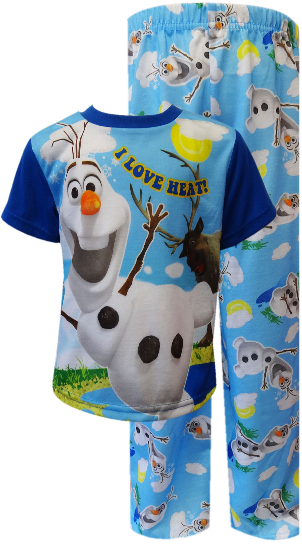 Image of Disney Frozen Olaf I Love The Heat Toddler Pajama for boys