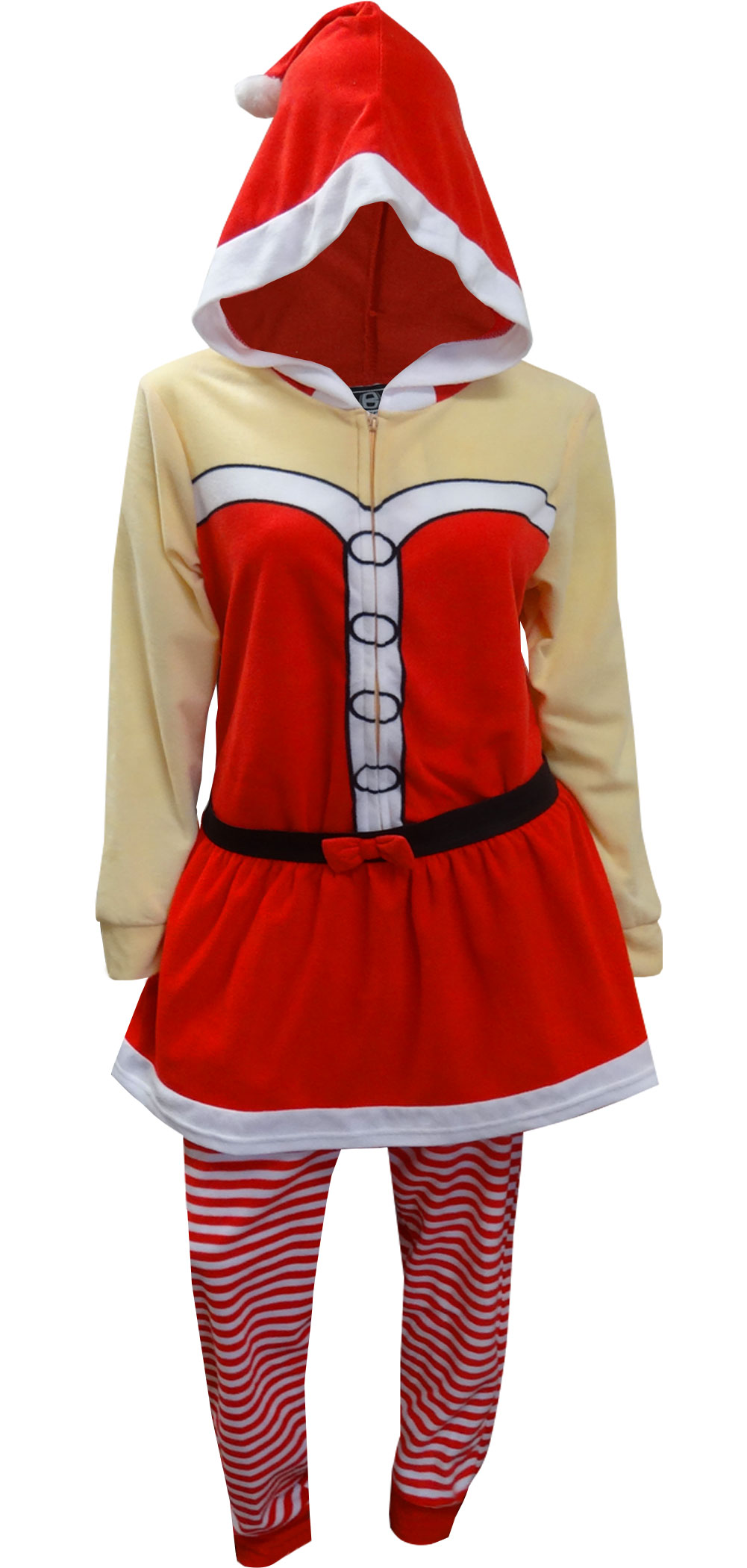 2e56aedf28c5 WebUndies.com Mrs Santa Claus Onesie Hooded Skirted Union Suit Pajama
