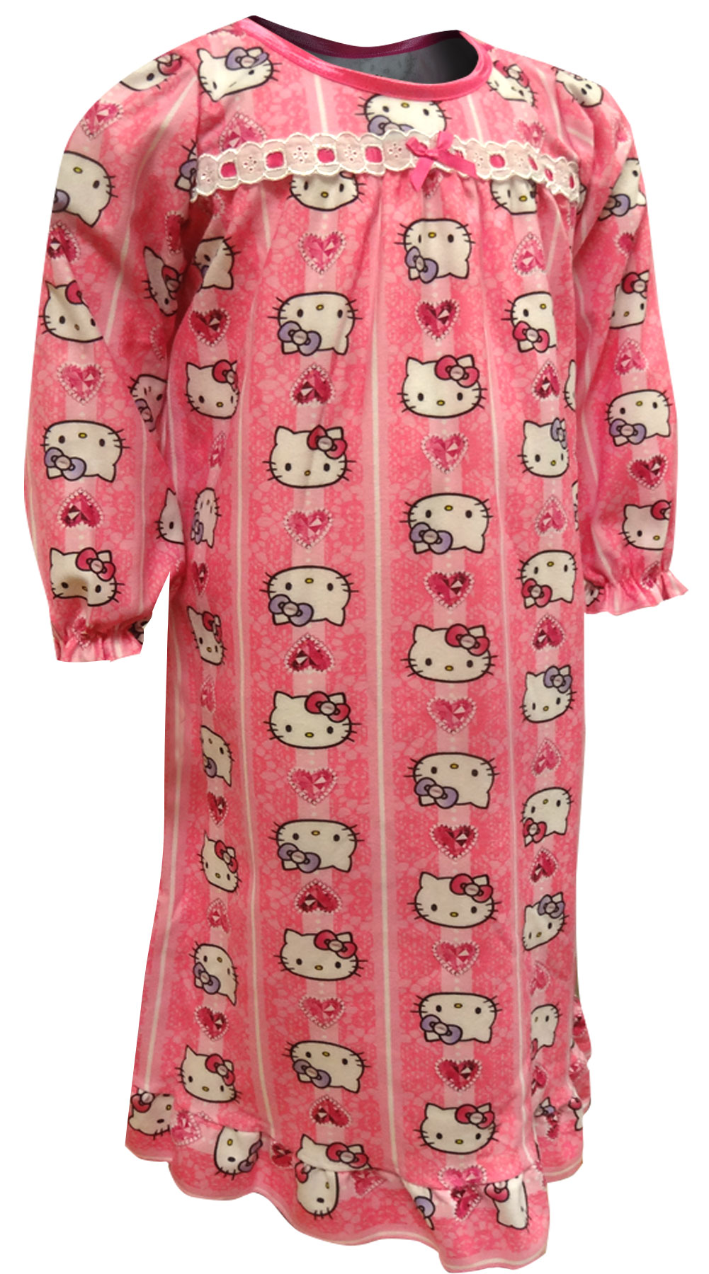 Image of Hello KittyTraditional Flannel Night Gown for girls