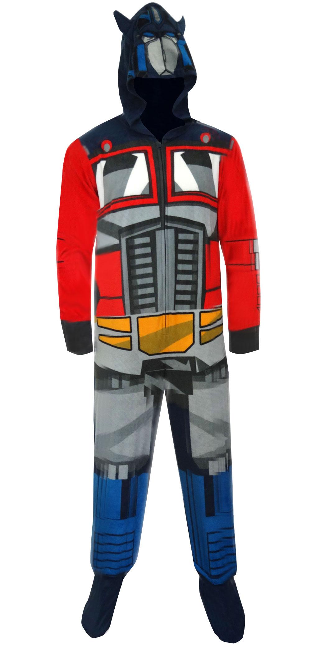 WebUndies.com Transformers Optimus Prime Hooded Fleece One Piece ...