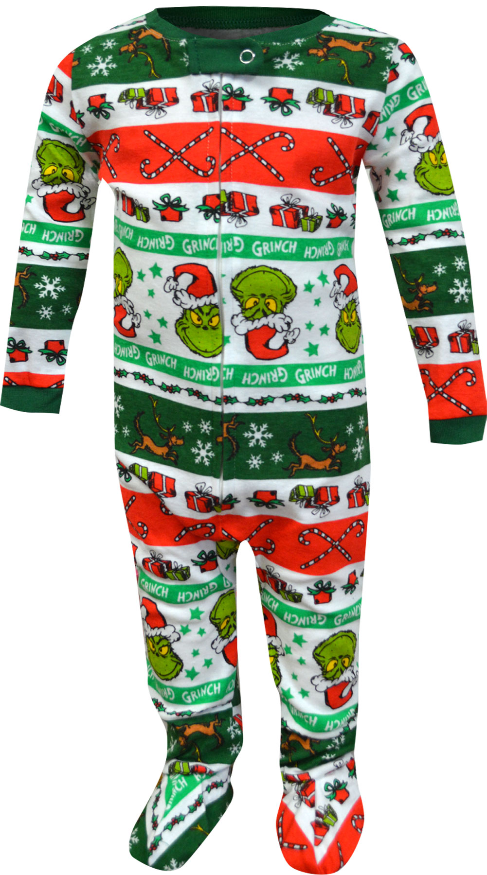 Image of Dr Seuss Grinch Infant Onesie Pajama for boys