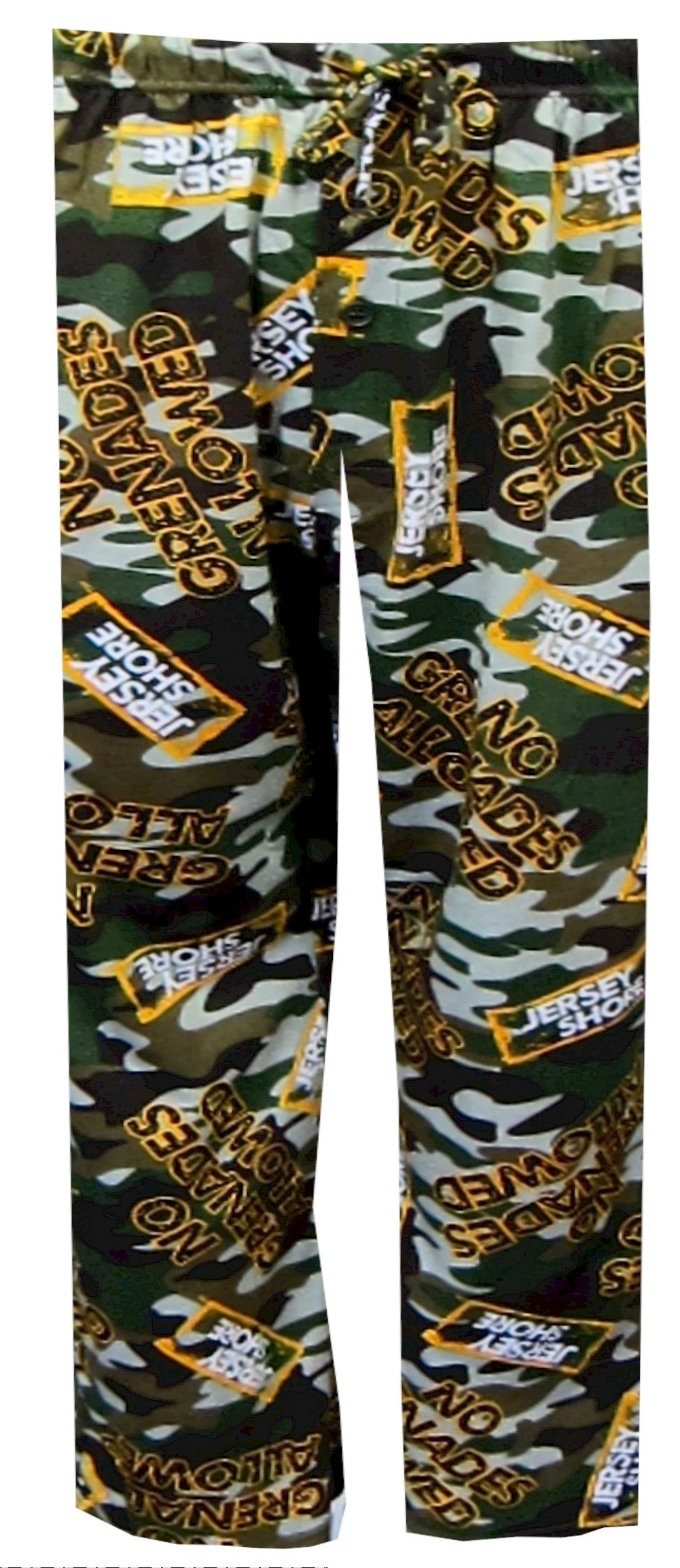 No Grenades Allowed Jersey Shore Camo Lounge Pant for men