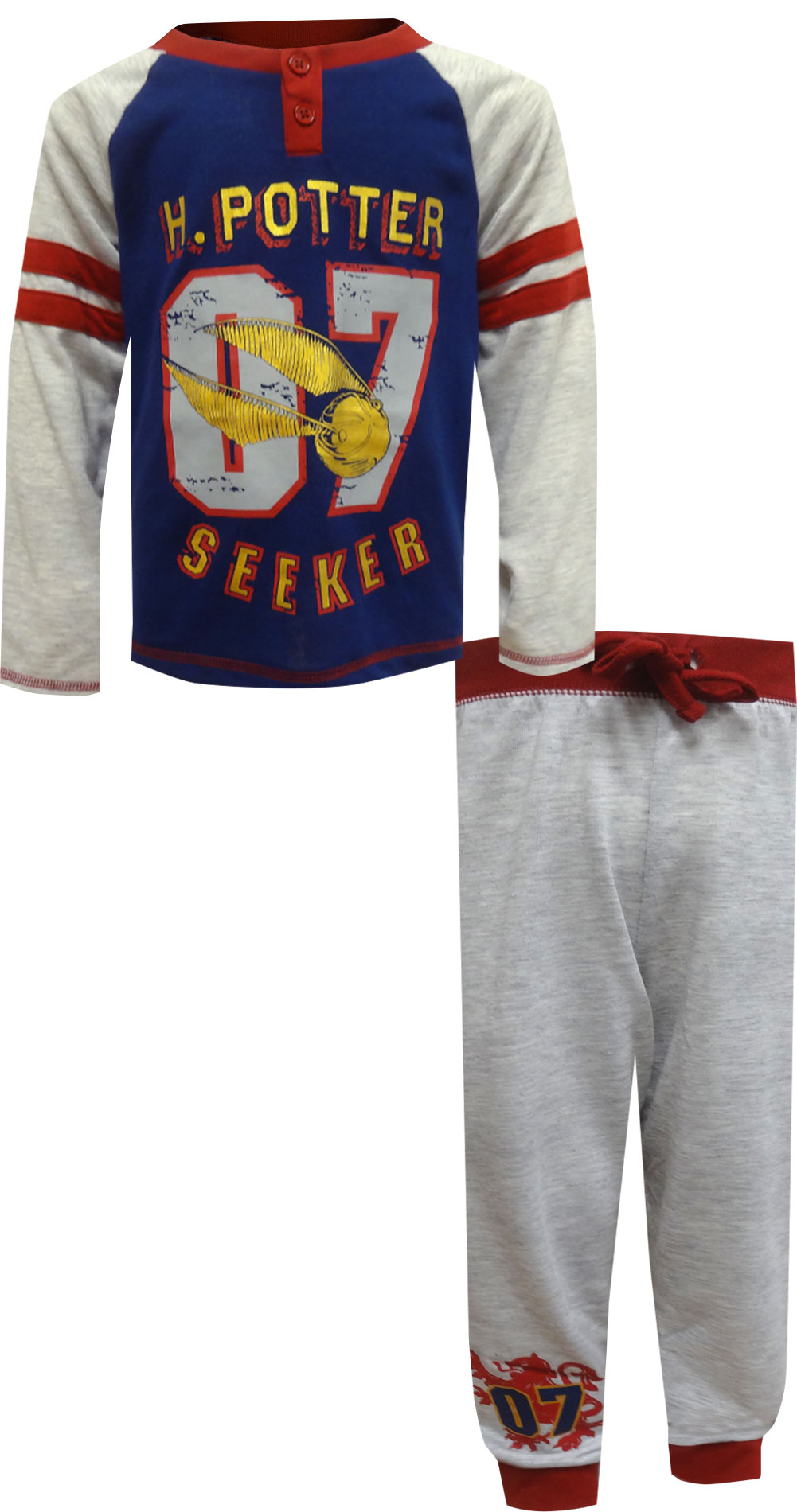 Image of Harry Potter Quidditch Seeker Uniform Pajama for boys