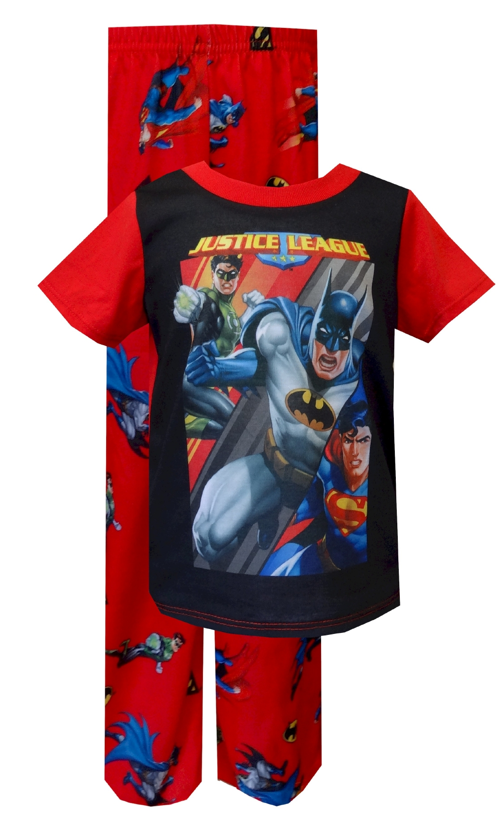 Red Justice League Superman Pajamas for Toddlers