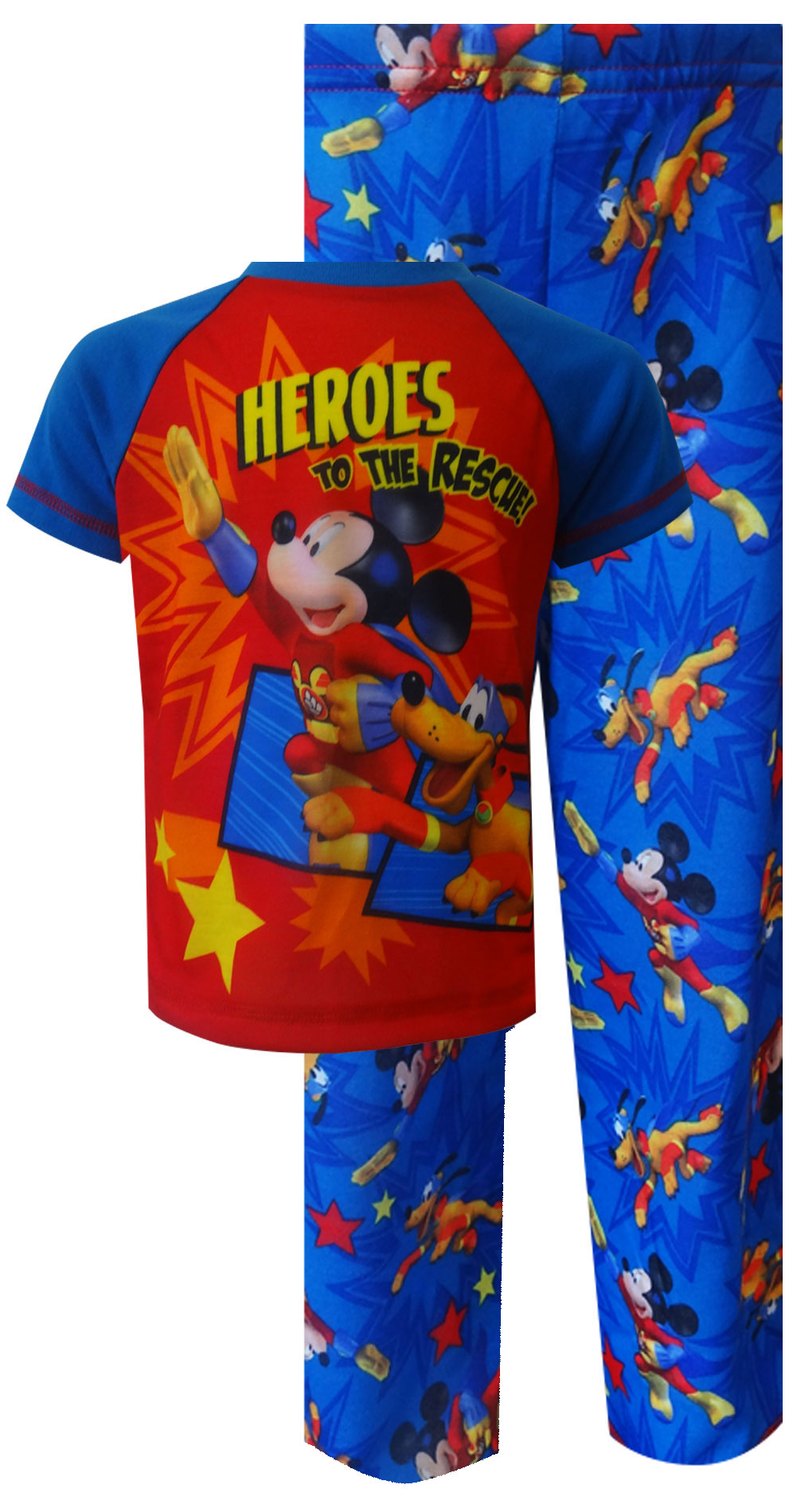 Heroes to the Rescue - Pluto & Mickey Mouse  Pajama Set for Toddler boys