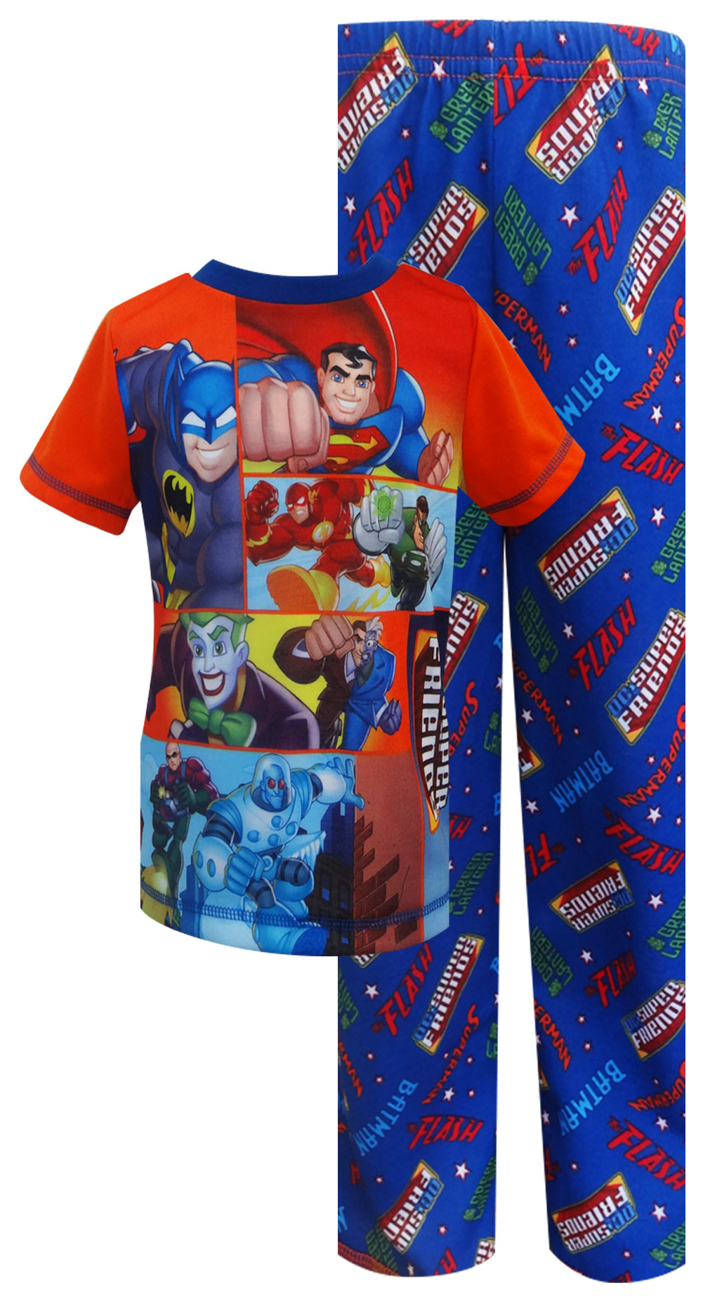Image of DC Comics Super Friends Heroes and Villains Toddler Pajama for boys