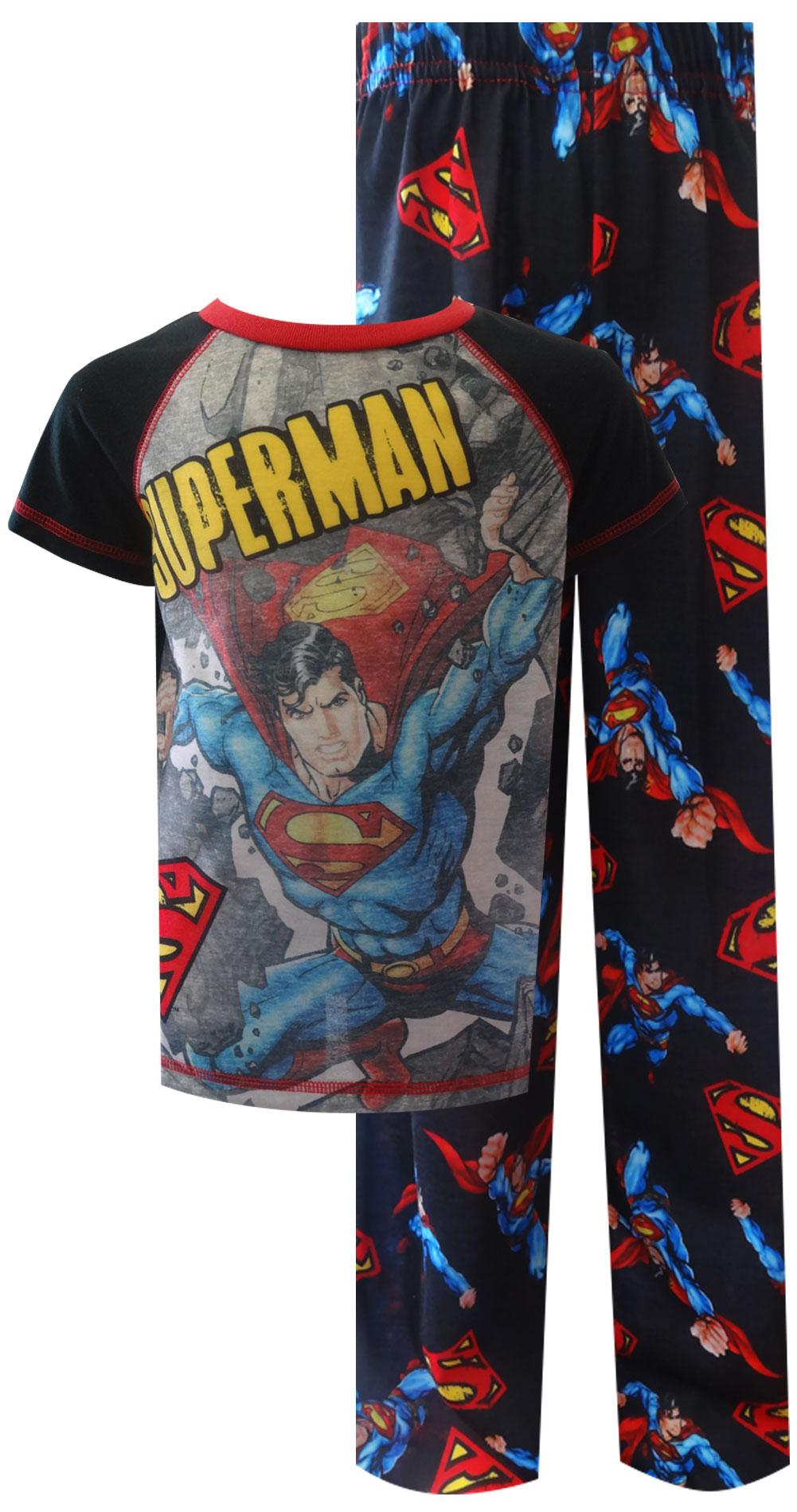 Image of DC Comics Superman Smashing Barriers Pajama for boys